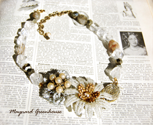 Bead Flower Necklace